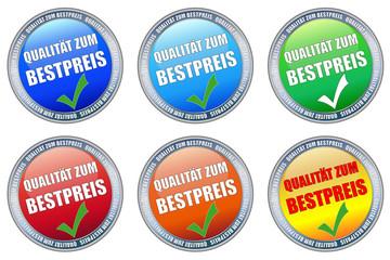 Button-Set, Qualität zum Bestpreis