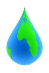 Earth water drop