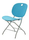 blue minimal chair poster