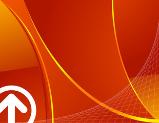 Orange abstract wave background vector