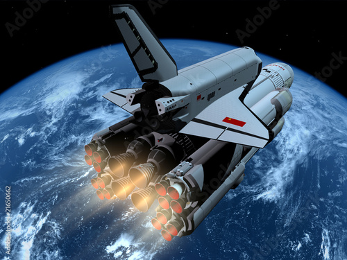 Statek kosmiczny nad Ziemią