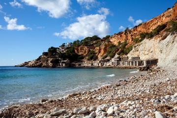 Rocky beach on Ibiza