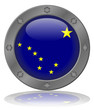 State of Alaska Flag Web Button (Alaskan USA America Vector)