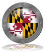 State of Maryland Flag Web Button (USA America Round Vector)