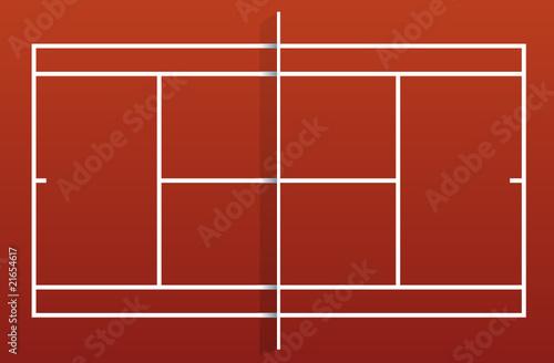 Terrain de tennis - terre battue