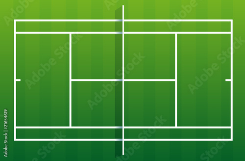 Terrain de tennis gazon fichier vectoriel libre de for Prix terrain de tennis