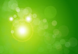 Fototapety Vector abstract background green bokeh