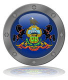 State of Pennsylvania Flag Web Button (USA America Vector)