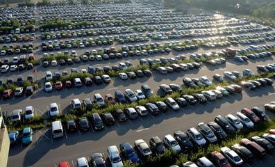 Parkplatz als Großparkplatz