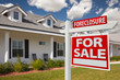 Foreclosure Real Estate Sign and House - Right
