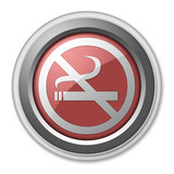 "3D Style Button ""No Smoking"""