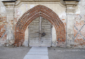 Ancient franciscans church gate