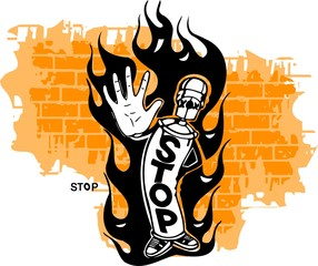 Graffiti - Flame and Stop.
