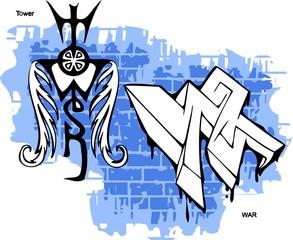 Graffiti -Wand end Wings.