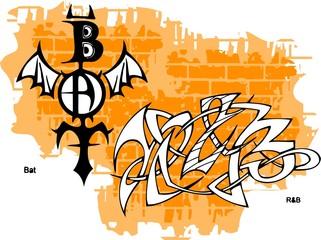 Graffiti -Bat end Wings.