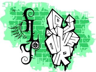 Graffiti -Flay end  Wings.
