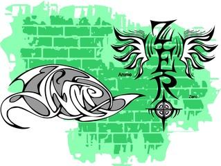 Graffiti -Zero end Wings.