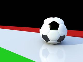 Pallone calcio bandiera italiana