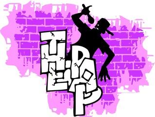 Graffiti -Wall and  Silhouette.