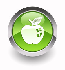 ''Apple fruit'' glossy icon