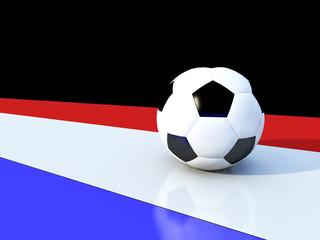 Pallone calcio con bandiera italia