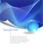 Blue Abstract Background with free space for text,