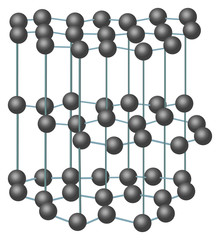 carbon crystal structure illustration