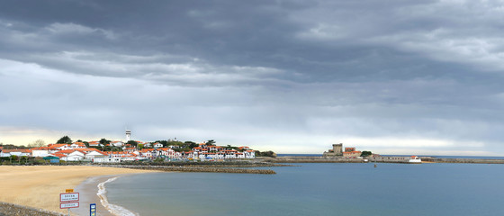 Panorama de la ville de Socoa au pays Basque