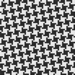 Houndstooth pattern. Seamless vector.