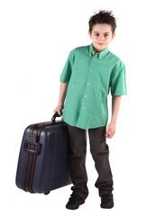 bambino con valigia