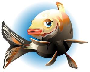 Pesce Cartoon-Vector