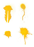 Collection of grungy spray splats.