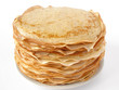 russian traditional pancakes pile on plate