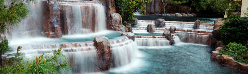 Waterfall Panorama, Las Vegas.