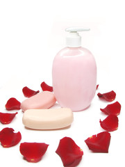 liquid soap with rose extract