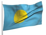 Flying Flag of Palau - All Countries poster