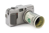 Photo camera and money