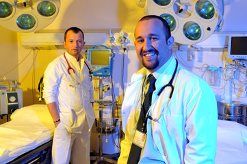 Medical doctors at emergency room