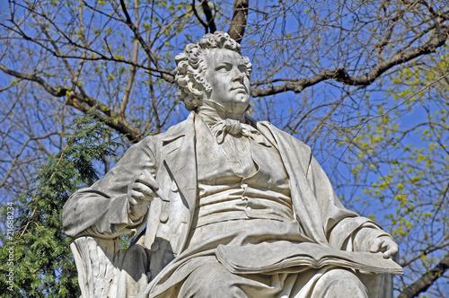 Leinwanddruck Bild Franz Schubert Denkmal, Wien
