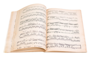 book with music scores