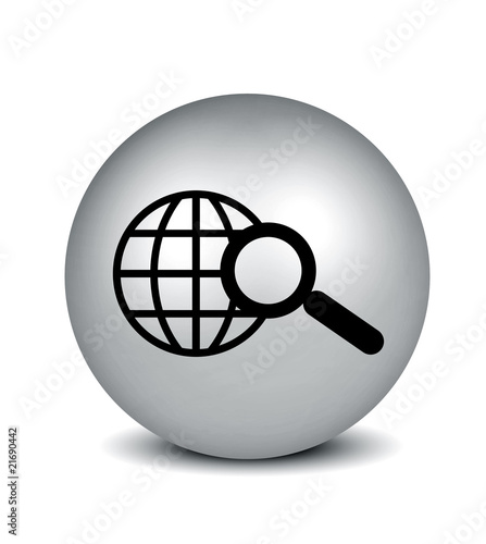 Search Icon - silver