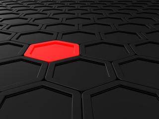 Tile from hexagons
