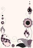 Border patchwork, A4 bleed, Illustrator 8 eps vector.. poster