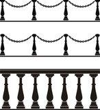 Architectural element - a balustrade, fence with chain