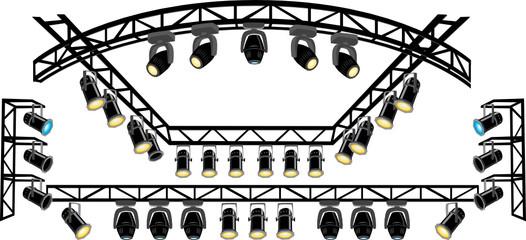 Stage spotlight on truss