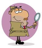 Hispanic Cartoon Investigator Man poster