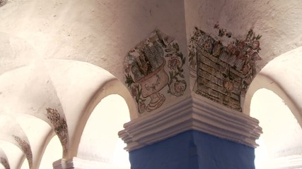Säulen, Kloster Santa Catalina, Arequipa, Peru