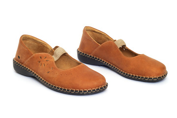 Brown women's shoes.