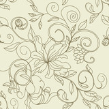 Retro stylized seamless pattern