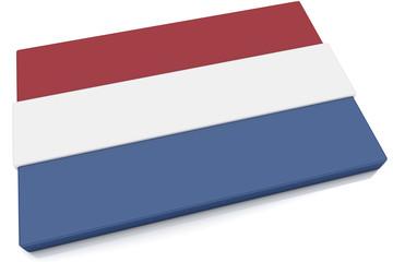 3D Netherlands Flag Button
